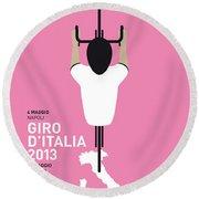 My Giro D'italia Minimal Poster Round Beach Towel by Chungkong Art