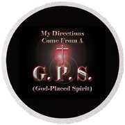 My Gps Round Beach Towel