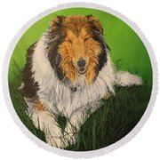 My Guardian  Round Beach Towel by Wendy Shoults