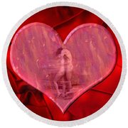My Heart's Desire 2 Round Beach Towel