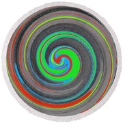 My Hurricane Round Beach Towel by Catherine Lott