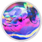 Round Beach Towel featuring the photograph My Imagination Is In Color by Kellice Swaggerty