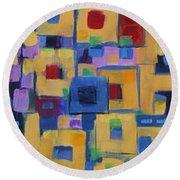 My Jazz N Blues 1 Round Beach Towel by Holly Carmichael
