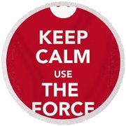 My Keep Calm Star Wars - Rebel Alliance-poster Round Beach Towel