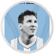 My Messi Soccer Legend Poster Round Beach Towel by Chungkong Art