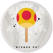 My Nintendo Ice Pop - Mega Mushroom Round Beach Towel