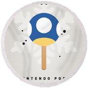 My Nintendo Ice Pop - Mini Mushroom Round Beach Towel