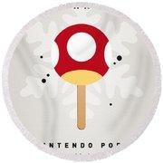 My Nintendo Ice Pop - Mushroom Round Beach Towel