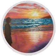 My Sonset Round Beach Towel