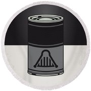 My Star Warhols Darth Vader Minimal Can Poster Round Beach Towel
