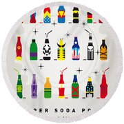 My Super Soda Pops No-00 Round Beach Towel