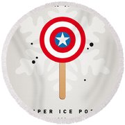 My Superhero Ice Pop - Captain America Round Beach Towel