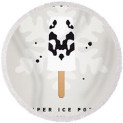 My Superhero Ice Pop - Rorschach Round Beach Towel