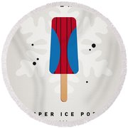 My Superhero Ice Pop - Spiderman Round Beach Towel