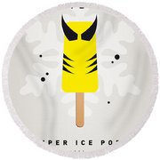 My Superhero Ice Pop - Wolverine Round Beach Towel