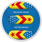My Superhero Pills - Wonder Woman Round Beach Towel