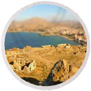 Round Beach Towel featuring the photograph My Toy Castle by Vicki Spindler