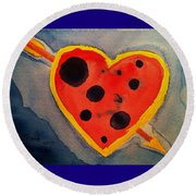 Imperfect Love Round Beach Towel by Rand Swift