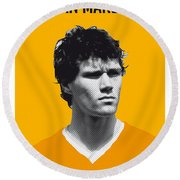 My Van Basten Soccer Legend Poster Round Beach Towel by Chungkong Art