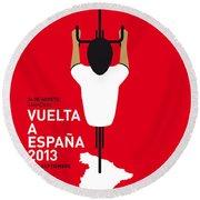 My Vuelta A Espana Minimal Poster - 2013 Round Beach Towel by Chungkong Art
