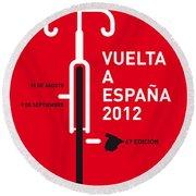 My Vuelta A Espana Minimal Poster Round Beach Towel