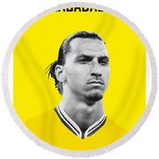My Zlatan Soccer Legend Poster Round Beach Towel by Chungkong Art