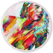Myriad Of Colors Round Beach Towel