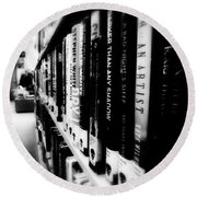 Round Beach Towel featuring the photograph Mystery At The Library by Lucinda Walter