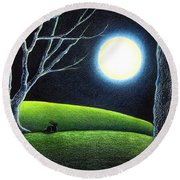 Mystery's Silence And Wonder's Patience Round Beach Towel