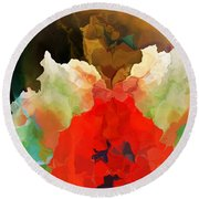 Round Beach Towel featuring the digital art Mystic Bloom by David Lane