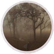 Mystic Forest 004 Round Beach Towel