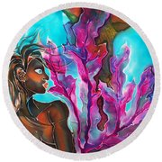 Mystic Mermaid Round Beach Towel