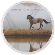 Mystical Beauty Inspirational Round Beach Towel