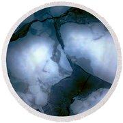 Mystical Blue 2 Round Beach Towel