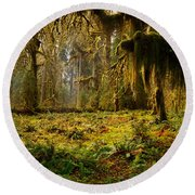 Mystical Forest Round Beach Towel by Leland D Howard