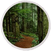 Mystical Path Round Beach Towel