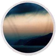 Mystical Sunrise Round Beach Towel