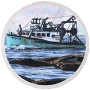 Mystique Lady Round Beach Towel by Eileen Patten Oliver