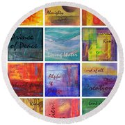 Names Of God Round Beach Towel