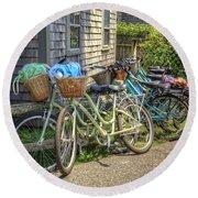 Nantucket Bikes Round Beach Towel