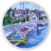 Naples Fun Round Beach Towel