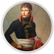 Napoleon Bonaparte As First Consul Round Beach Towel