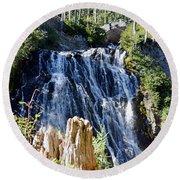 Narada Falls Round Beach Towel
