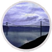 Narrows Bridge Round Beach Towel