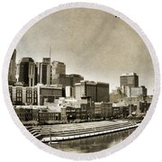 Nashville Tennessee Round Beach Towel by Dan Sproul