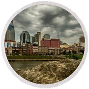 Nashville Tennessee Round Beach Towel