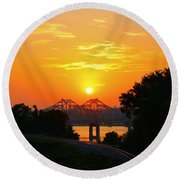 Natchez Sunset Round Beach Towel