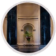 National Gallery Of Art Christmas Round Beach Towel by Stuart Litoff