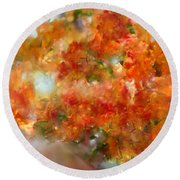Natural Abstractions #12 The Orange Tree Round Beach Towel