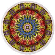 Natural Attributes 01 Horizontal Round Beach Towel by Wendy J St Christopher